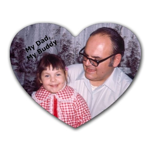 Dad By Debbie Houk   Heart Mousepad   Igcctbtnhxey   Www Artscow Com Front