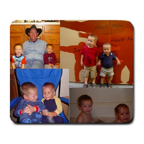 Boys Mouse By Sarah Maya   Collage Mousepad   Jmt23pggtr7t   Www Artscow Com 9.25 x7.75 Mousepad - 1