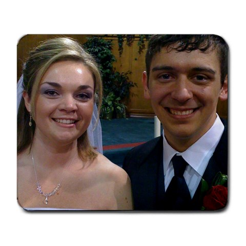 Cody And Sarah: Wedding Day By Amy Herndon Ashley   Large Mousepad   Un2uhg2c1srn   Www Artscow Com Front