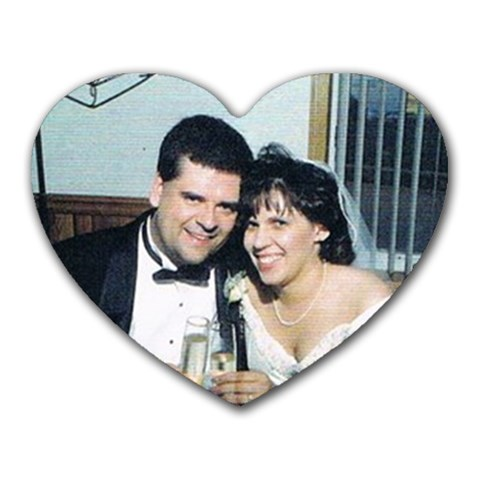 Wedding By Dawn Zaluski   Heart Mousepad   5op7k209vkj4   Www Artscow Com Front