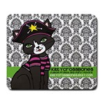 Kittycrossbones - Large Mousepad