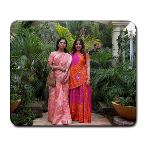 Me And Mum By Zarana Talati   Collage Mousepad   Tpe2e03ogsam   Www Artscow Com 9.25 x7.75 Mousepad - 1