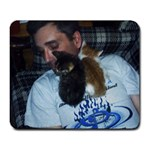 boyfriend and kittens - Large Mousepad