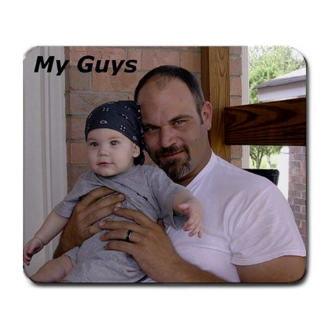 My Guys By Tara Blanks Norton   Collage Mousepad   Udh5ik8nu107   Www Artscow Com 9.25 x7.75 Mousepad - 1