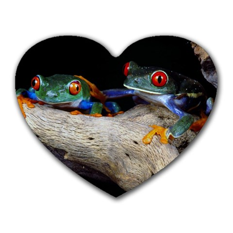 I Love Frogs By Barbara Hafendorfer   Heart Mousepad   D6kj3cpuhz55   Www Artscow Com Front