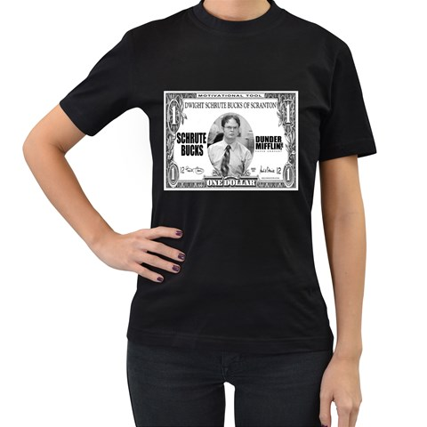 Schrute Buck By Charity   Women s T Shirt (black)   9bd5nk12suyw   Www Artscow Com Front