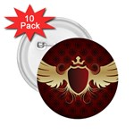 vector-winged-shield-13-by-dragonart 2.25  Button (10 pack)