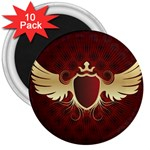 vector-winged-shield-13-by-dragonart 3  Magnet (10 pack)