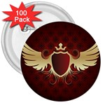 vector-winged-shield-13-by-dragonart 3  Button (100 pack)