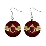 vector-winged-shield-13-by-dragonart 1  Button Earrings
