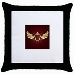 vector-winged-shield-13-by-dragonart Throw Pillow Case (Black)