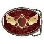 vector-winged-shield-13-by-dragonart Belt Buckle
