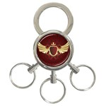 vector-winged-shield-13-by-dragonart 3-Ring Key Chain