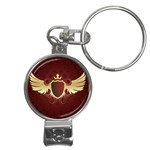 vector-winged-shield-13-by-dragonart Nail Clippers Key Chain