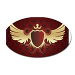 vector-winged-shield-13-by-dragonart Magnet (Oval)