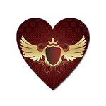 vector-winged-shield-13-by-dragonart Magnet (Heart)