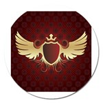vector-winged-shield-13-by-dragonart Magnet 5  (Round)