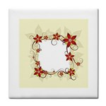 vector-silk-flower-design-card-02-by-dragonart1 Tile Coaster