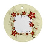 vector-silk-flower-design-card-02-by-dragonart1 Ornament (Round)