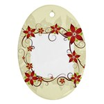 vector-silk-flower-design-card-02-by-dragonart1 Ornament (Oval)