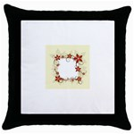vector-silk-flower-design-card-02-by-dragonart1 Throw Pillow Case (Black)
