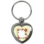 vector-silk-flower-design-card-02-by-dragonart1 Key Chain (Heart)