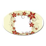 vector-silk-flower-design-card-02-by-dragonart1 Magnet (Oval)