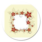 vector-silk-flower-design-card-02-by-dragonart1 Magnet 5  (Round)