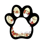 vector-silk-flower-design-card-02-by-dragonart1 Magnet (Paw Print)