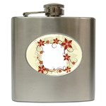 vector-silk-flower-design-card-02-by-dragonart1 Hip Flask (6 oz)