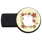 vector-silk-flower-design-card-02-by-dragonart1 USB Flash Drive Round (1 GB)