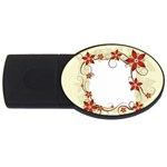 vector-silk-flower-design-card-02-by-dragonart1 USB Flash Drive Oval (1 GB)