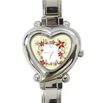vector-silk-flower-design-card-02-by-dragonart1 Heart Italian Charm Watch