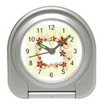 vector-silk-flower-design-card-02-by-dragonart1 Travel Alarm Clock