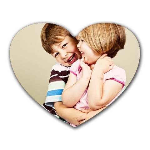 Mason And Lili By Meriaten Rebecca Long   Heart Mousepad   Hxp50o6teu3t   Www Artscow Com Front