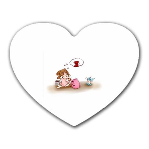 Love By Joan Barnett   Heart Mousepad   3kf1gavo8hfw   Www Artscow Com Front