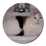 kiki in the sink - Round Mousepad