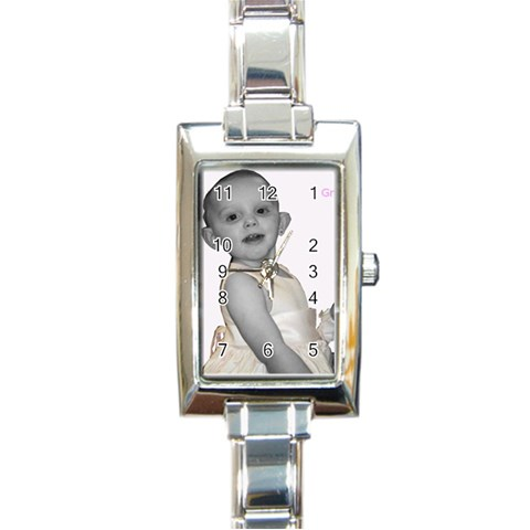 Grammie Watch By Vikki Scroggins   Rectangle Italian Charm Watch   Ld4yapxyzi5f   Www Artscow Com Front
