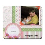 Daddy and Kiera - Collage Mousepad