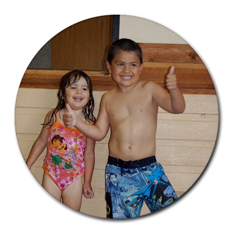 Last Day Of Swim Lessons! By Chantel   Round Mousepad   G7qtnqtclybt   Www Artscow Com Front