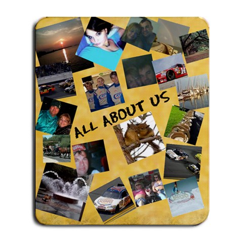 All About Us By Flo Dawdy   Collage Mousepad   9548p727k9y1   Www Artscow Com 9.25 x7.75 Mousepad - 1