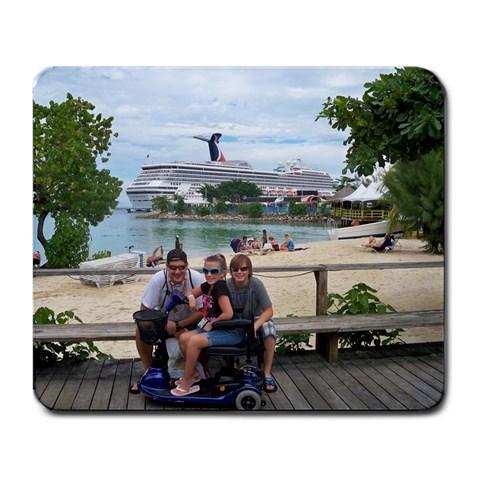 The Family On The Cruise By Thomas Miller   Large Mousepad   K25fhosc1jqw   Www Artscow Com Front