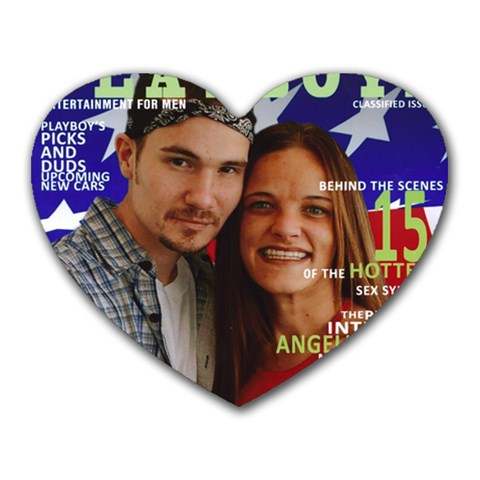 Benjamin & Angela By Angela Lukacic   Heart Mousepad   S4it2x9nhuhe   Www Artscow Com Front