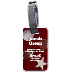 Jacob s Luggage Tag With Him & Miley Photo And Address By Wendy Green   Luggage Tag (two Sides)   15agmgnosogg   Www Artscow Com Back