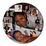 Ari and Marishka Boo - Collage Round Mousepad
