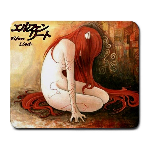 Elfen Lied Mousepad By James Kinsella   Large Mousepad   3t4uz2s2s037   Www Artscow Com Front