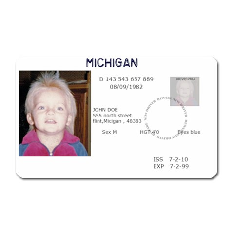 Fake Id By Brookieadkins Yahoo Com   Magnet (rectangular)   07bqg3cjt72t   Www Artscow Com Front