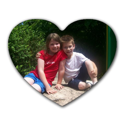 Big Sis & Little Brother By Theresa Fullerton   Heart Mousepad   Fj4gf2m1rxn6   Www Artscow Com Front