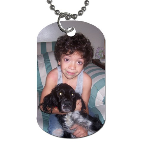 Sassy And Andrew By Shannon Smith   Dog Tag (one Side)   K6gl6774727q   Www Artscow Com Front