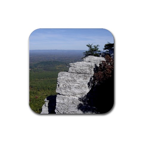 Hanging Rock By Melissa   Rubber Coaster (square)   6zj2710netz5   Www Artscow Com Front